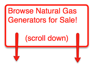 Natural Gas Generators for Sale